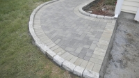 Walkway - Unilock Hollandstone pavers, inside color charcoal, outside color granite<br />