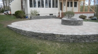Patio, Fire Pit & Wall - Corinthian Granite