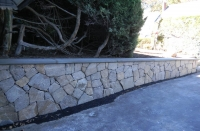 Wall - Mosaic Wall stone w/Bluestone treads on top